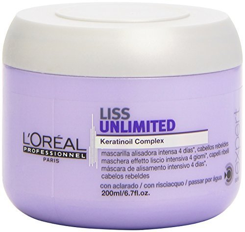 L Oreal Liss Unlimited Keratinoil Complex Mask for Unisex, 6.7 Ounce by L Oreal Paris