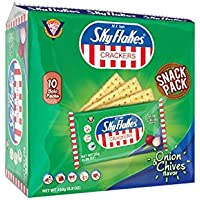 M.Y.San Sky Flakes Onion And Chives Crackers - 25 gm (Pack of 8)