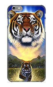 Appearance Snap-on Case Designed For Iphone 6 Plus- Tiger Of The Lake(best Gifts For Lovers)