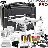 DJI Phantom 4 PRO Executive Bundle: Includes Antenna Range Extenders, SanDisk 64GB Exctreme Pro, Go Professional Wheeled Case, Propeller Guards & More...