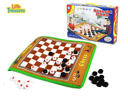 Scacchi Dama is a traditional chess experience for beginners- real fun giant board game for 3+ kids