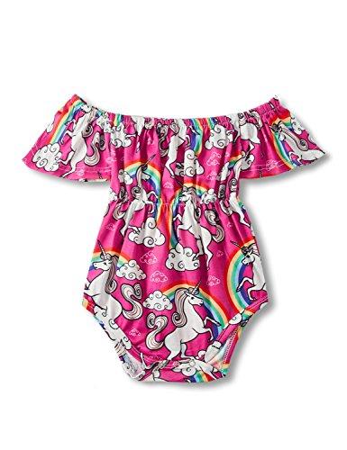 2-3 Years Old White Horse Printing Romper Newborn 18-36 Months Little Kids Neonate Sleeveless Bodysuits Jumsuit Creeper Coveralls Set for Baby Girls