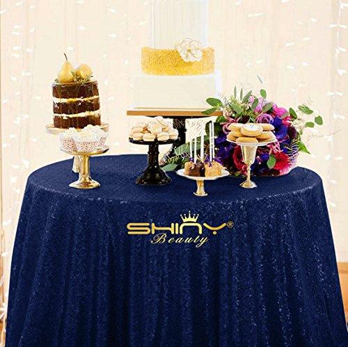 Light Blue Elegance Round Tablecloth (ShiDianYi 72 Inch Round Navy Blue SEQUIN TABLECLOTH, Navy Blue Wedding Tablecloth,Navy Blue Glitter Tablecloth,Navy Blue Sparkly Tablecloth (NavyBlue))