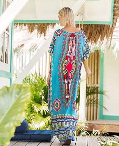 Cover Scollato Mare PassMe Colore Cerimonia Copricostume Vestiti Abito 1 Elegante Lungo Donna Up Stampato V Estivo Taglie Floreale Bikini Caftano Forti zfn1qwfBYZ
