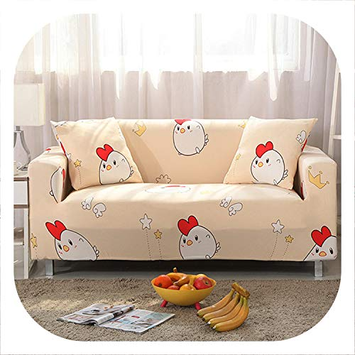 1/2/3/4 Seater Sofa Covers Chair Couch Protect Stretch Elastic Loveseat Slipcover for Living Room Sofa Cover,Color 14,4-Seater 235-300cm
