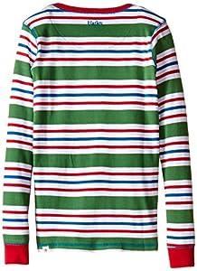 Hatley Little Boys' Henley Pajama Set -Holiday Stripes Boys