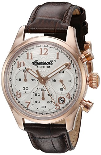 Ingersoll Women's INQ 042 SLRS Pembroke Ladies Analog Display Japanese Quartz Brown Watch