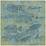 Karen Foster Design Scrapbooking Paper, 25 Sheets, Tails and Fins, 12 x 12""