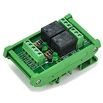 Electronics Salon Din Rail Mount 2 Spdt Power Relay