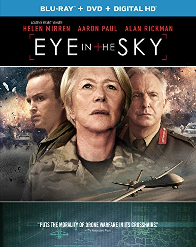Eye In The Sky Blu Ray Helen Mirren Aaron Paul Alan Rickman Barkhad Abdi Jeremy Northam Iain Glen Gavin Hood Ged Doherty Colin Firth David Lancaster Guy Hibbert Movies Tv