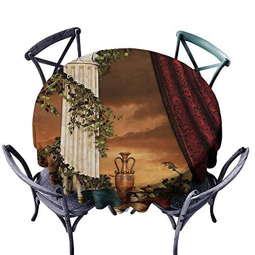 VIVIDX Fashions Table Cloth,Gothic,Greek Style Scene Climber Pillow