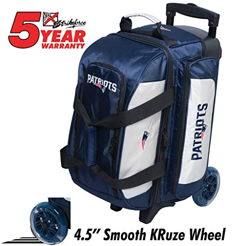KR Strikeforce Bowling Bags New England Patriots 2 Ball Roller Bowling Bag, Multi