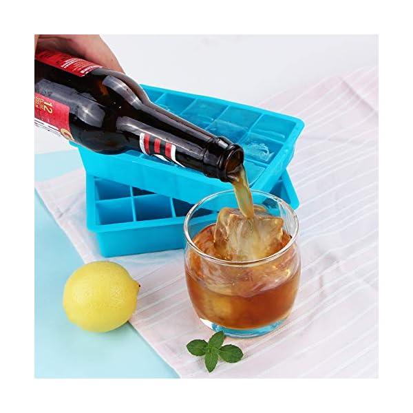 Webake Stampo Cubetti Ghiaccio in Silicone 15 Vassoio per Cubetti di Ghiaccio 3 x 3 cm Ideali per Alcolici, Whisky… 4 spesavip