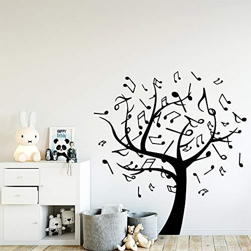 Ajcwhml Hermosa música árbol Papel Tapiz decoración del hogar Etiqueta de la Pared para niños habitación decoración…
