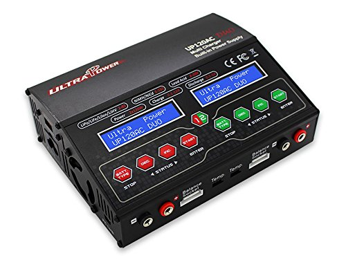 Ultra Power UP120AC DUO Balancing Charger for LiPo LiIon LiFe NiCd NiMH Lead Acid battery packs Battery Packs