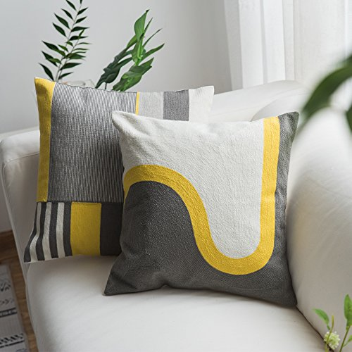 Decorative Pillow Modern (Lananas Modern Decorative Throw Pillow Covers for Couch Geometric Home Pillow Cushion Cover for Sofa 18