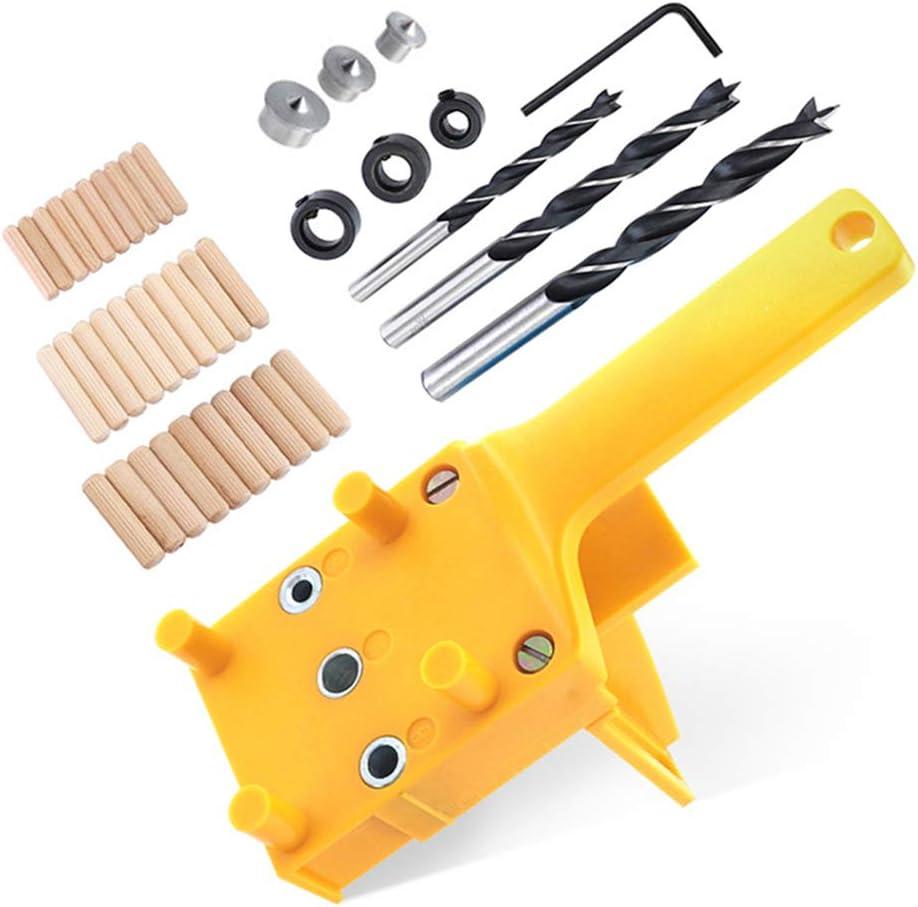 41 Unids/set Kit de plantilla de espiga de carpintería de mano para 6 8 10 mm Guía de broca Manga de metal Taladro de madera Agujero de espiga Herramientas de sierra