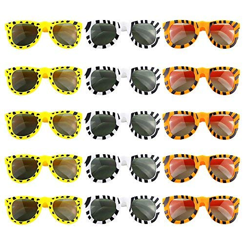 WXBOOM 15pcs Kids Animal Sunglasses for Hawaii Luau Party