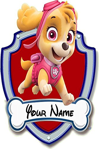 Paw patrol, Skye shield your name 3D Wall Decal Sticker giant 18