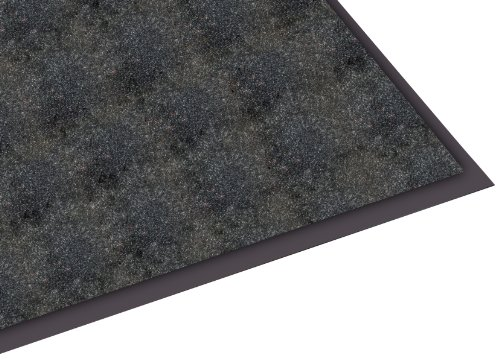 Mat Olefin - Guardian Silver Series Indoor Walk-Off Floor Mat, Vinyl/Polypropylene, 3'x6', Black