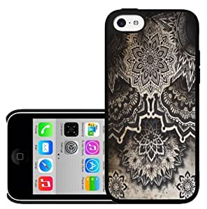 meilz aiaiRetro Black Antique Flower Pattern Hard Snap on Phone Case (iPhone 5c)meilz aiai