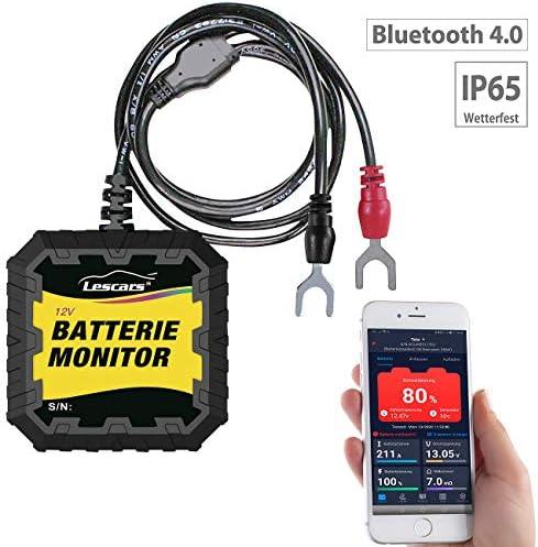 Lescars Batteriewächter Kfz Batterietester Und Wächter Für 12 Volt Mit Bluetooth App Ip65 Batterie Monitor Auto