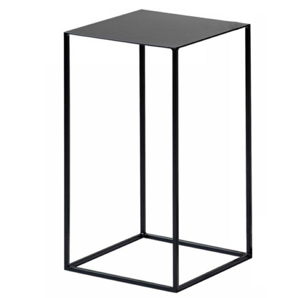 アイロンティーテーブルサイド小さなテーブルソファコーナーディスプレイスタンドメタルシェルフ ガーデンファニチャー B07GNKK8YR Black 30*30*54 cm/12*12*21 inch