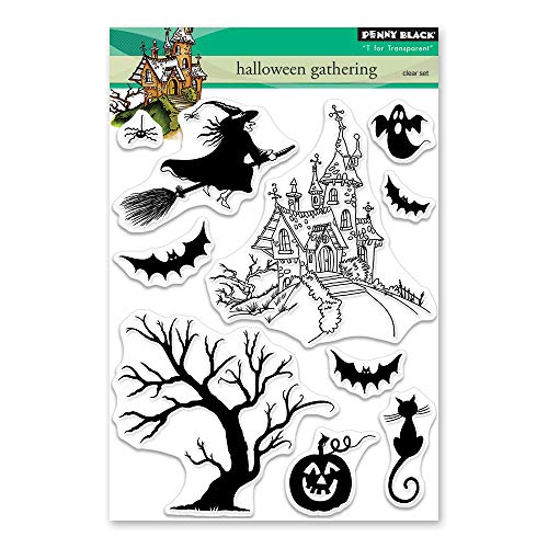 Penny Black Halloween Cards (Penny Black 30-490 Clear Stamp)