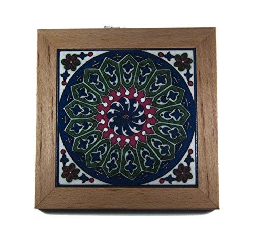 armenian ceramic tiles wall tiles holy land jerusalem made decor painted flowers handmade (Jerusalem Tile)