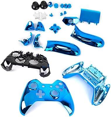 Cáscara Funda Caso kit Repuestos Para Xbox One Controlador - Metal Azul: Amazon.es: Electrónica