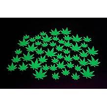 50 Piece Glow in the Dark Marijuana Weed Pot Leafs