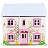 Bigjigs Toys Heritage Playset Rose Cottage - Wooden Doll House