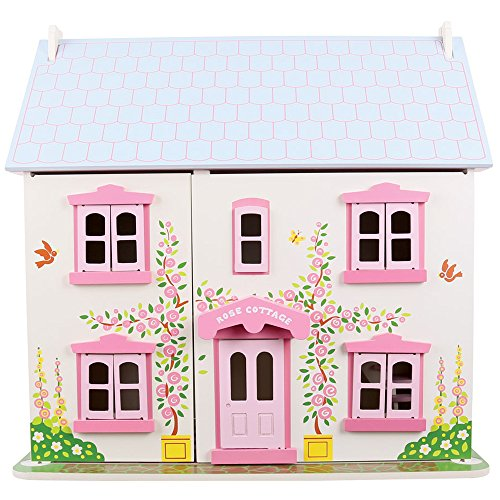 Bigjigs Toys Heritage Playset Rose Cottage - Wooden Doll House by Bigjigs Toys