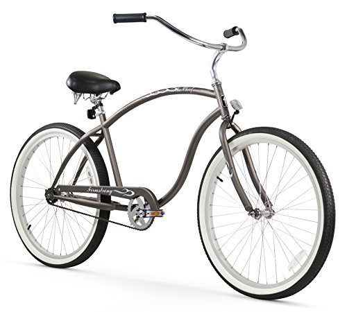 Firmstrong Chief Man Single Speed Beach Cruiser Bicycle, 26-Inch, Matte Grey