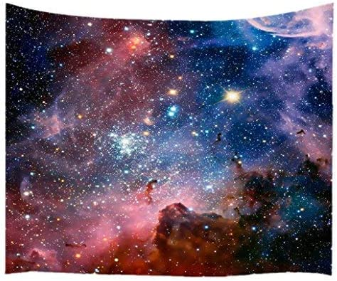 Goodbath Large Tapstry, Space Universe Galaxy and Star in Outer Space Tapestries Wall Hangings for Living Room Bedroom Dorm, 90 x 60 Inch, Colorful