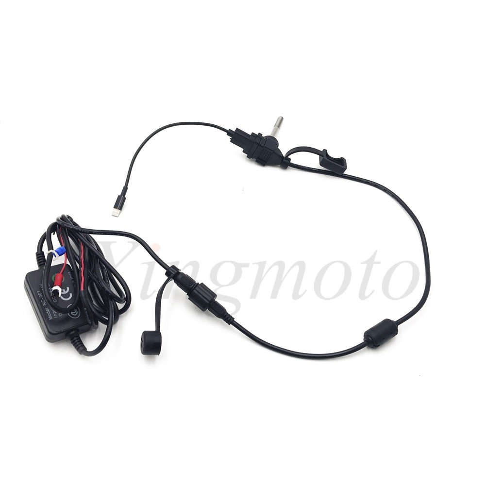 NBX- Waterproof USB Motorcycle Mobile Phone GPS Power Supply Port Socket Charger 12V