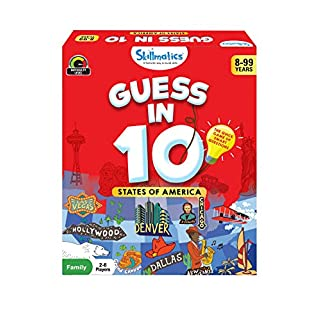 Skillmatics Guess in 10 States of America - Card Game of Smart Questions for Kids & Families | Super Fun & General Knowledge for Family Game Night | Gifts for Kids (Ages 8-99)