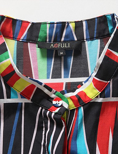 PU&PU Robe Aux femmes Grandes Tailles Grandes Tailles / Vintage / Soirée / Travail / Décontracté Mao Mi-long Soie / Coton , screen color-2xl , screen color-2xl