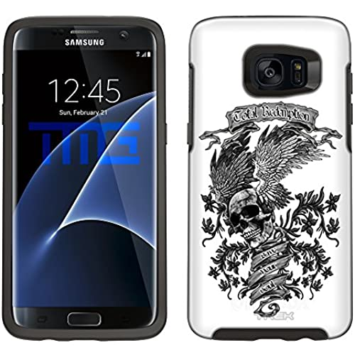 Skin Decal for Otterbox Symmetry Samsung Galaxy S7 Edge Case - Skull Wing on White Sales