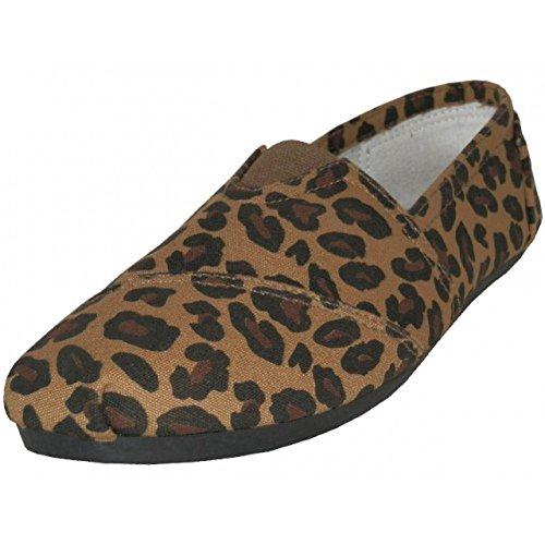 AimTrend Women's Canvas Slip On Casual Shoe Leopard-7 (Leopard Tennis Shoes For Women)