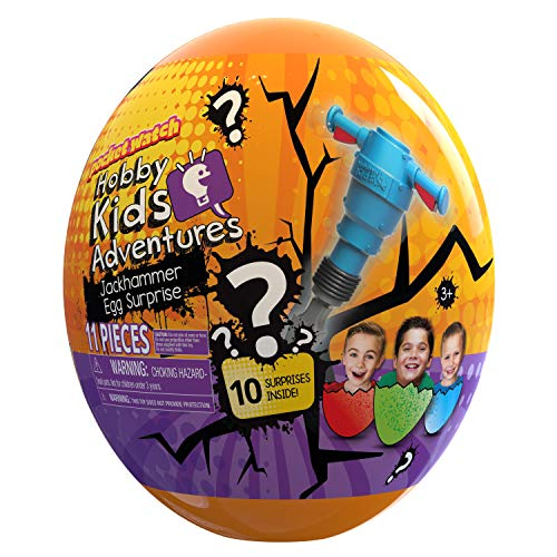Gather Friends and Playmates to Get This HobbyKids Jackhammer Egg Surprise Crackin' for More Fun Surprises! from Swrl