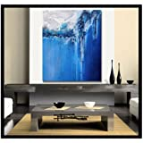 Modern Abstract Canvas Painting - Limited Edition Giclee - THE QUAY - 30 x 36 x 1.5 XL Ready to Hang. Direct from studio ELOISE WORLD.