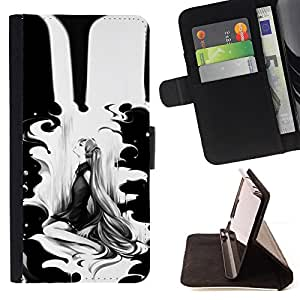 Jordan Colourful Shop - black woman minimalist drawing For Apple Iphone 5C - Leather Case Absorci???¡¯???€????€?????????&A