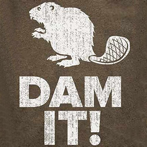 Dam It Beaver T-Shirt-Funny shirt-Damn It-XXL-Heather Brown (Mens Beaver Brown)