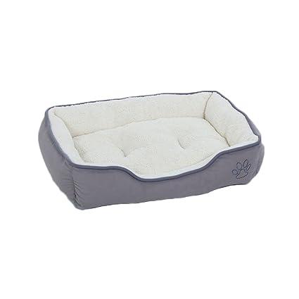 GCHOME Cama de Perro Cama para Mascotas Peluche Perrera Suave y Confortable Resistente al Agua Antideslizante