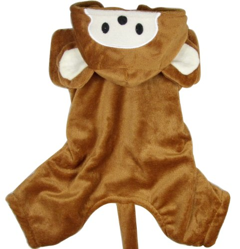 Evergreens Coffee Monkey Design Pet Dogs Cosplay Coat (XL for body 13.7