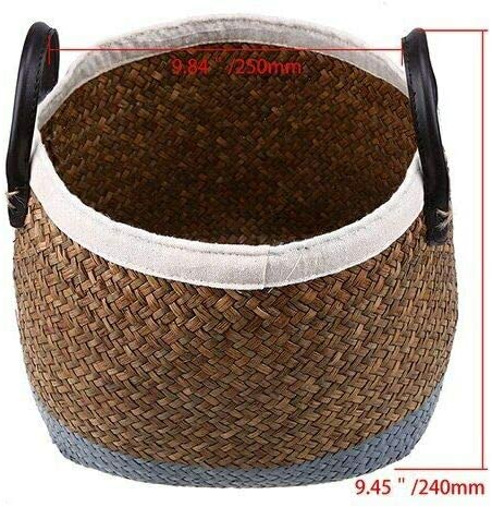 [해외]NATFUR Handmade Storage Basket Rattan Storage Box Seagrass Flower Pots Wicker Pot | Color - S / NATFUR Handmade Storage Basket Rattan Storage Box Seagrass Flower Pots Wicker Pot | Color - S