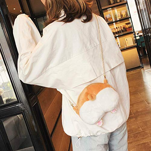 Girls Pattern Bag Fashion Teenage Cartoon Bags Shoulder Occitop Plush Crossbody 0TPwxn