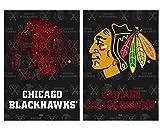 NHL Vertical Flag Size: 43″ H x 29″ W, NHL Team: Chicago Blackhawks
