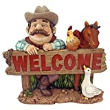 Cheap Design Toscano Cowboy Cody Western Welcome Statue